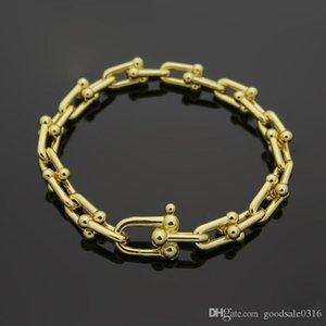 Hot brand fashion u-type titanium steel bracelet 18K gold rose silver bracelet with advanced gift set suitable for gifts