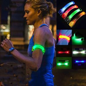 caliente llevó silicona Brazalete reflectante de luz de seguridad Testigo noche de los deportes zapatillas de running clips de seguridad de la luz pulsera partyware T2I5753