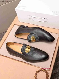 Fashion Handmade Leather with Bow Prom and Wedding Dress shoes Men Flats Loafers wan1
