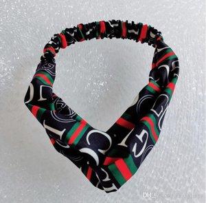 Hair band female tying hair Korean simple wash tiara net red personality letter stripe cross wild hair band headband
