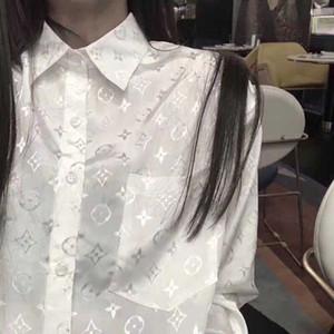 Жаккард ленивый ветер длинный солнцезащитный крем рубашка интернет-знаменитостью с таким же свободные повседневная базовая одежда белый, черный и голубой рубашке