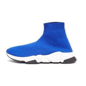 Designer Chaussures vitesse formateur marque Bule noir blanc rouge Plat De Mode Hommes Femmes Chaussettes Sneakers Mode formateurs Casua Chaussures 3r