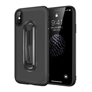 The New Apple mobile phone case Carbon fiber invisible bracket TPU anti-fall soft shell For iphone x xs xr 6 7 8 plus mobile phone cases