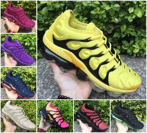 2020 Vapores d'air, plus tn chaussures de course arc-en-Sport Triple Université Rouge Noir Volt or métallisé Obsidian Tropical Twist Femmes Sneakers