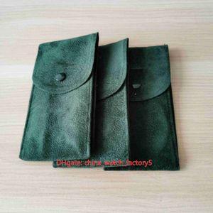 Heiße verkaufenden hochwertigen Perpetual Grün-Uhr Tuch Reisetasche Sammlung Tasche 70mm x 130mm für Präsidenten 126333 116500 116610 126710 Uhren
