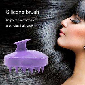 5 цветов Удобный силиконовый шампунь массаж головы щетка для мытья волос гребень для тела ванна спа похудение массажная щетка CCA10913 500 шт.