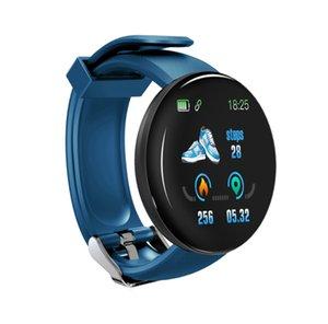 2019 Nueva llegada D18 presión Brazalete Bluetooth impermeable inteligente del reloj del ritmo cardíaco Sangre Actividad rastreadores Deportes SmartWatch