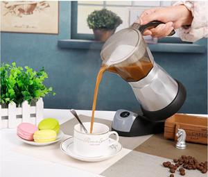 6cups / 300ml électrique Cafetière Aluminium Matériel Pots de café Moka Pot Moka café machine à café filtre V60 mode Espresso Maker
