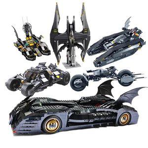 héroes de DC Batman Serie Súper 7116 Brickheadz El Vaso Bat móviles compatibles Legos 7784 Technic coches regalos bloquea los juguetes