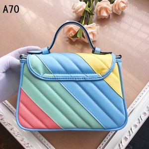 2020 new fashion explosion women's shoulder bag Trend single shoulder stitching high quality Love chain portable Messenger bag G 583571