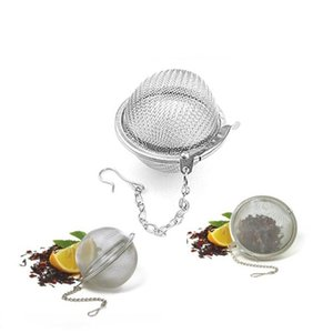 New Tea Infuser Stainless Steel Locking Tea Pot Infuser Reusable Sphere Mesh Tea Strainers Kitchen Drinking Accessories Ball with
