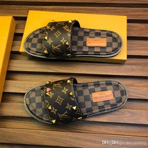 Top Hommes Femmes Sandales avec correcte Fleur Boîte Sac À Poussière Designer Chaussures serpent impression de luxe glisser D'été De Mode Large Plat Sandales