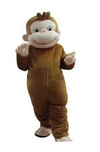 2018 venda quente Curious George Monkey Mascot Costumes
