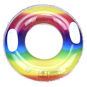 Летнее нового взрослых дети вод надувной полосы ручки плавание кольцо Кристалл Радуга плавание кольцо оптовых спасательный жилет Buoy