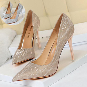 luxury designer high heels women fashion wedding platform wedges sandals pump dress shoes gold silver nude pointed toe pu leather