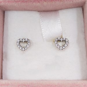 Authentic 925 Sterling Silver Studs Fits European Pandora Style Studs Jewelry 18