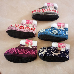 Gardez au chaud Chaussettes De Sol De Noël Antidérapant Hiver Chaussettes De Chambre de haute qualité chaussures de maison Chaussettes De Sol LJJK1858