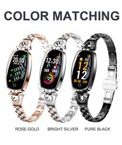 H8 H8S pulsera inteligente mujeres actividad Fitness Tracker Monitor de ritmo cardíaco presión arterial impermeable pulsera reloj smartwatch fitbit Xiaomi