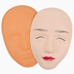 1 세트 문신 연습 스킨 새로운 5D 실리콘 미니어처 연습 피부는 영구 메이크업 초보자를위한 얼굴