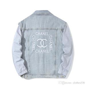 2020 del progettista del Mens Jackets Mens di lusso Designer Giacca di jeans uomini di alta qualità casuale delle donne cappotti neri blu di modo mens giacca
