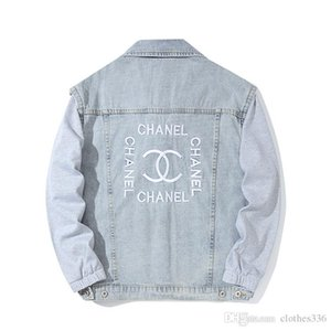 2020 Mens Designer Jackets Luxo Mens Designer Denim Jacket Homens Mulheres Alta Qualidade Casual Coats Preto Azul moda jaqueta mens