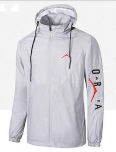 2019 deportes rompevientos chaqueta con capucha de impresión moda casual rompevientos delgada ropa de protección solar corriendo gimnasio rompevientos