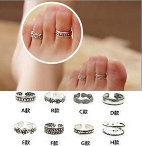 Women Toe Ring Fashion Retro Simple Jewellery Beach Lady Jewelry Halloween VD