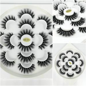 Nuevo 7 pares de pestañas de visón 3D falsas Pestañas postizas largas y naturales Volumen Pestañas postizas Maquillaje Extensión de pestañas maquiagem