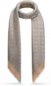 Diseño de celebridades de alta calidad Cachemira Algodón raya Bufanda Mujer Carta Impresión Bufandas Chal Abrigo Cuadrado grande 140 * 140 cm