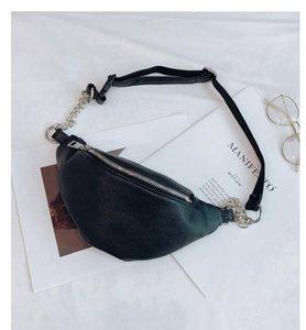2020 Yeni Jiulin Bayan Bel Çantası Fanny Paketi PU Çanta Kemer Cüzdan Küçük Çanta Telefon Tuş Kılıfı Beyaz Siyah Bel siyah mini'yi Paketleri