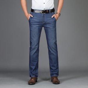 2018 Mens Jeans New Fashion Men Casual Jeans Slim Straight Feet Loose Waist Business gentleman Pantalones largos