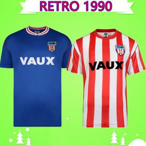 Sunderland RETRO FUTEBOL CAMISA 1990 1991 camisas de futebol do vintage clássico Maillot de pé Camiseta de fútbol Davenport Gabbiadini Pascoe