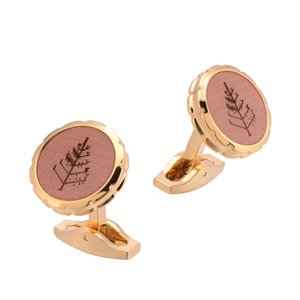 High Quality Novelty Wood Cufflinks Handmade Business Style Tree and Pig Cuff Links Men's Jewelry Wedding Gift