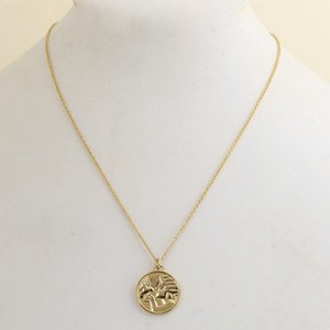 Free shipping Real Gold Plated Peace Dove T Logo Pendant Necklace B Chian Brand