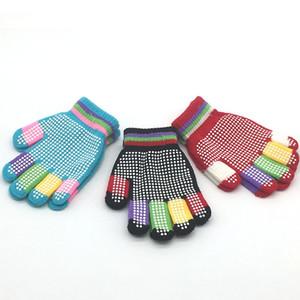 Gratuit DHL enfants Gants anti-dérapantes d'hiver coloré magique stretch Mitten hiver chaud tricot Gant pour Garçons Filles 6 modèles N24Z