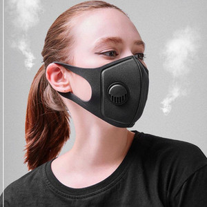 In Stock! Dustproof Face Mask Breathing Valve Sponge Mask Black Face Mask Washable Reusable Anti-Dust Fog PM2.5 Protective Masks Party Masks