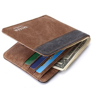 Erkek Tuval Cüzdan Sikke çanta Kredi Kartları Tutucu Denim Cep Değişim Cüzdanlar Erkek Cüzdan Cepler Casual Kısa Cüzdan