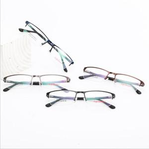 Blu-ray Geçirmez Camlar 1508 Yarım Çerçeve klasik Toptan Erkekler Miyop Metal Çerçeve İş gözlük Frame Glasses