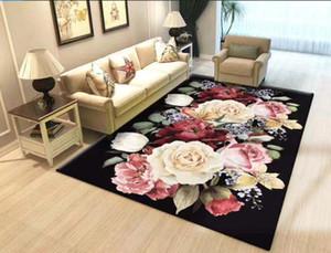 Flor Big Tapetes para sala de estar Decoração New Tapete Quarto Sofá Café Área da tabela tapete macio Sala de Estudo Tapetes Tapete