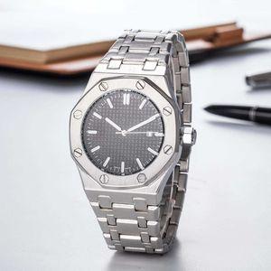 Alta Qualidade Mens Moda Relógio De Luxo Em Aço Inoxidável Royal Oak Offshore Designer de Relógios de Quartzo Mostrador Preto Dos Homens Presente Esporte Relógio de Pulso