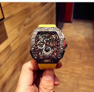 LCD5 Designer relógios McLaren F1 .RM 50-03 modelo Movement relógios .O material é feito de me automática NTPT carbono fiber.Multi-funcional
