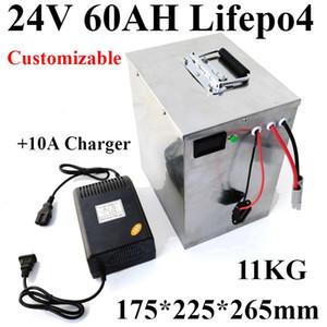 2000 واط 24 فولت lifepo4 60AH بطارية 24 فولت 60ah bateria + 10a شاحن bms ل محرك كهربائي الصرف الصحي كاسحة لمشاهدة معالم ...