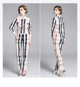 2020 Indumentaria femenina elegante dos piezas de vestido bonito de la tela escocesa de impresión Conjunto 2 piezas Conjunto de ropa de sport de señora Girl