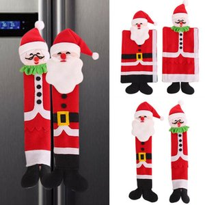 3X Christmas Refrigerator Door Handle Cover Kitchen Microwave Oven Handle Cover