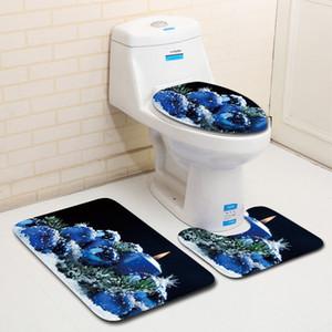 Nuevo diseño Decoración de regalo de Navidad 3 piezas Alfombras de baño Set Absorción de agua Inodoro Alfombras de baño Alfombras de piso Kits de productos de baño
