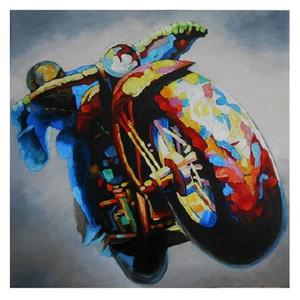 старинные Мотоциклетные кафе гонщик искусства, высокое качество расписанную HD Печать Современные абстрактные Pop Art Картина маслом на холсте Мульти размеры / Рамка Ab281