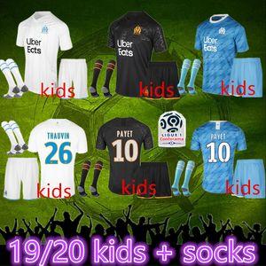 Marsilya maillot de Marsilya çocuklar çorap futbol forması 2020 marsilya Maillot De Ayak PAYET ANGUISSA GOMIS forması 19 20 marsilya gömlek