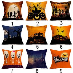 Ev Yastık Cadılar Bayramı Hayalet Desen Keten Yastık Araba Kanepe Yastık Yastık Kapakları Cadılar Bayramı Dekorasyon Atmak Yastık Kapak BH2074 CY