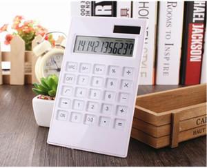 12 chiffres pratiques Fournitures de bureau pratique pour l'énergie solaire Calculatrices Calculatrice bref cadeau Cristal Calculator Key Livraison gratuite