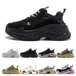balanciaga Mais novo 2019 Moda verão noite super star homens e mulheres sapatos designer casual Triple S sapatos tamanho 36-45